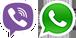 Cвязаться с нами через Viber или WhatsApp